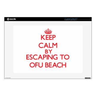 Keep calm by escaping to Ofu Beach Samoa Skins For Laptops