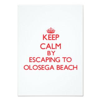 "Keep calm by escaping to Olosega Beach Samoa 5"" X 7"" Invitation Card"