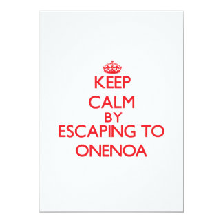 "Keep calm by escaping to Onenoa Samoa 5"" X 7"" Invitation Card"