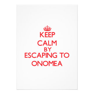 Keep calm by escaping to Onomea Hawaii Custom Announcement