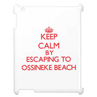 Keep calm by escaping to Ossineke Beach Michigan iPad Case