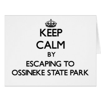 Keep calm by escaping to Ossineke State Park Michi Large Greeting Card