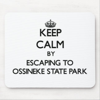 Keep calm by escaping to Ossineke State Park Michi Mouse Pad