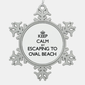 Keep calm by escaping to Oval Beach Michigan Ornaments
