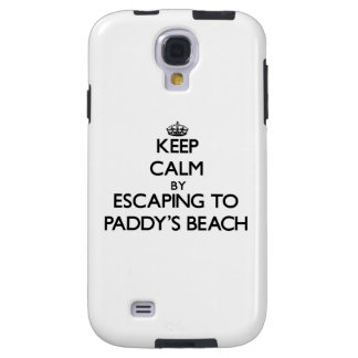 Keep calm by escaping to Paddy S Beach Rhode Islan Galaxy S4 Case