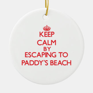 Keep calm by escaping to Paddy'S Beach Rhode Islan Christmas Tree Ornaments