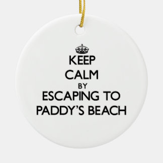 Keep calm by escaping to Paddy'S Beach Rhode Islan Christmas Tree Ornament