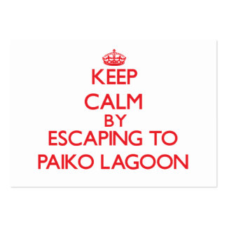 Keep calm by escaping to Paiko Lagoon Hawaii Business Card