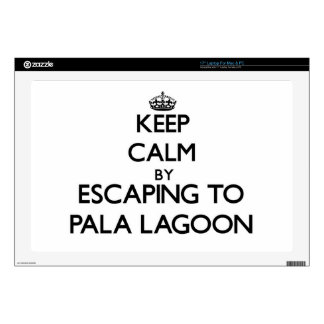Keep calm by escaping to Pala Lagoon Samoa Laptop Decal