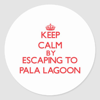 Keep calm by escaping to Pala Lagoon Samoa Sticker