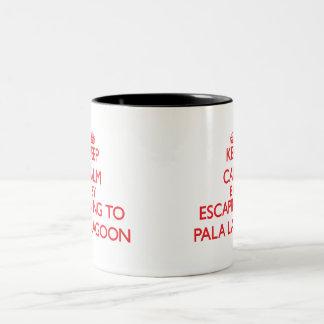 Keep calm by escaping to Pala Lagoon Samoa Two-Tone Coffee Mug