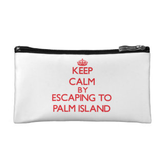 Keep calm by escaping to Palm Island Florida Cosmetic Bags