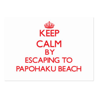 Keep calm by escaping to Papohaku Beach Hawaii Large Business Cards (Pack Of 100)