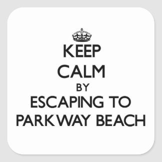 Keep calm by escaping to Parkway Beach Wisconsin Sticker