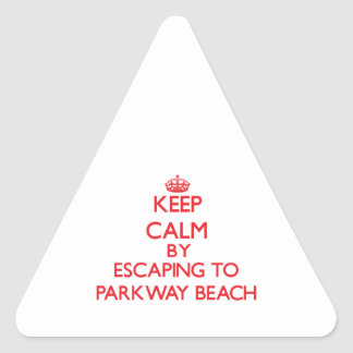 Keep calm by escaping to Parkway Beach Wisconsin Triangle Sticker
