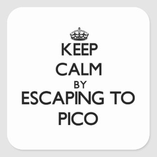 Keep calm by escaping to Pico Massachusetts Square Sticker