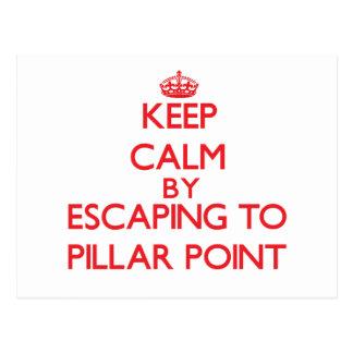 Keep calm by escaping to Pillar Point California Postcard
