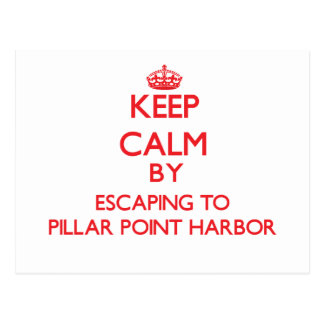 Keep calm by escaping to Pillar Point Harbor Calif Postcard