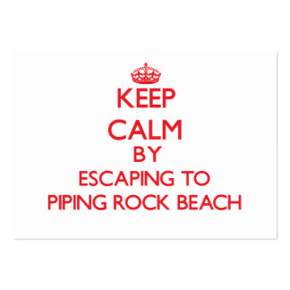 Keep calm by escaping to Piping Rock Beach New Yor Business Card Templates