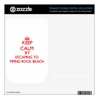 Keep calm by escaping to Piping Rock Beach New Yor FreeAgent GoFlex Decals