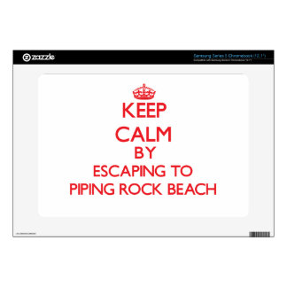 Keep calm by escaping to Piping Rock Beach New Yor Samsung Chromebook Decals