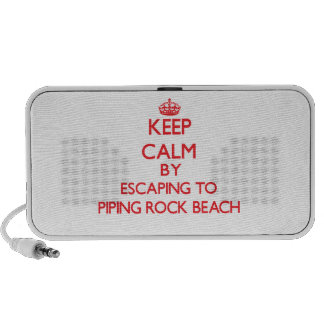 Keep calm by escaping to Piping Rock Beach New Yor Portable Speaker