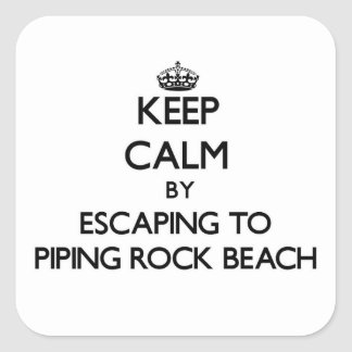 Keep calm by escaping to Piping Rock Beach New Yor Stickers