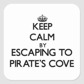 Keep calm by escaping to Pirate S Cove Alabama Sticker