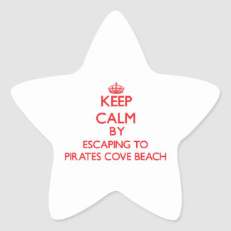 Keep calm by escaping to Pirates Cove Beach New Ha Stickers