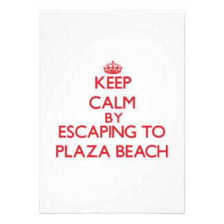 Keep calm by escaping to Plaza Beach New York Custom Invite