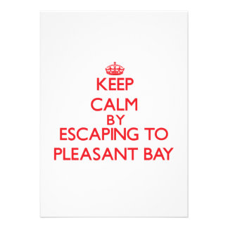 Keep calm by escaping to Pleasant Bay Massachusett Personalized Invitations