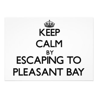 Keep calm by escaping to Pleasant Bay Massachusett Card