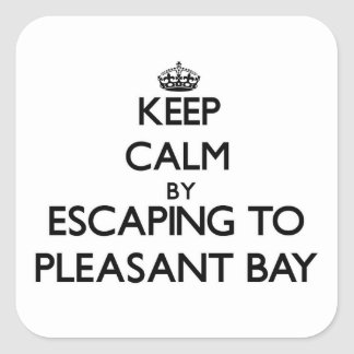 Keep calm by escaping to Pleasant Bay Massachusett Square Sticker