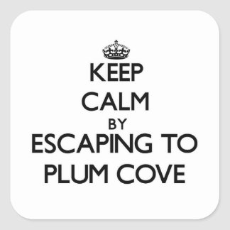 Keep calm by escaping to Plum Cove Massachusetts Sticker