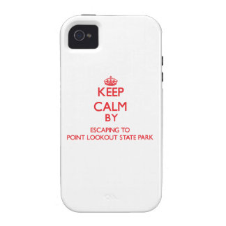 Keep calm by escaping to Point Lookout State Park Vibe iPhone 4 Cover
