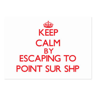 Keep calm by escaping to Point Sur Shp California Business Card Template