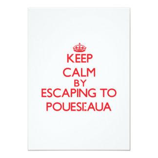 "Keep calm by escaping to Pouesi-Aua Samoa 5"" X 7"" Invitation Card"