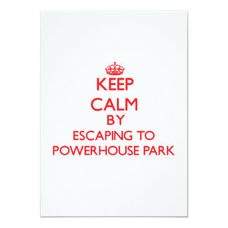 Keep calm by escaping to Powerhouse Park Californi 5x7 Paper Invitation Card