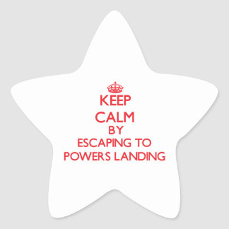 Keep calm by escaping to Powers Landing Massachuse Sticker