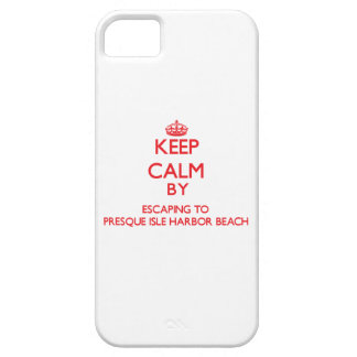 Keep calm by escaping to Presque Isle Harbor Beach iPhone 5 Cover