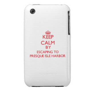 Keep calm by escaping to Presque Isle Harbor Michi Case-Mate iPhone 3 Cases