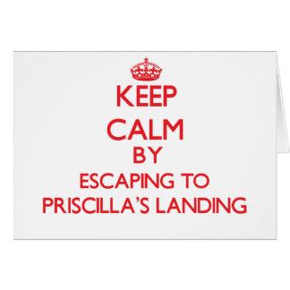Keep calm by escaping to Priscilla'S Landing Massa Card