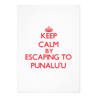 Keep calm by escaping to Punalu'U Hawaii Announcements