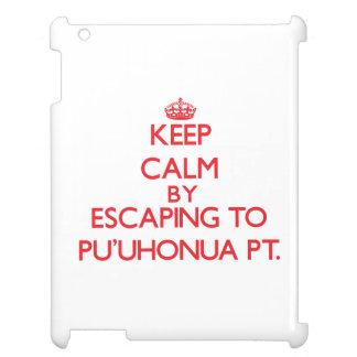 Keep calm by escaping to Pu'Uhonua Pt. Hawaii iPad Covers
