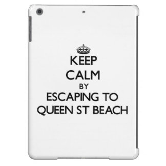 Keep calm by escaping to Queen St Beach Delaware iPad Air Case