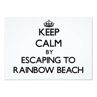 Keep calm by escaping to Rainbow Beach Illinois 5x7 Paper Invitation Card