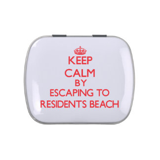 Keep calm by escaping to Residents Beach Massachus Jelly Belly Tins
