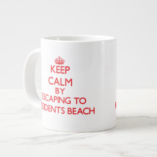 Keep calm by escaping to Residents Beach Massachus 20 Oz Large Ceramic Coffee Mug