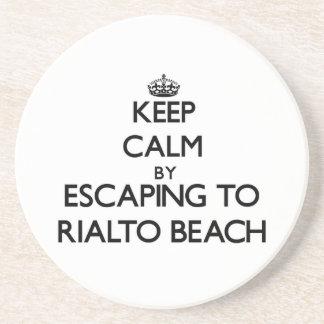 Keep calm by escaping to Rialto Beach Washington Beverage Coaster