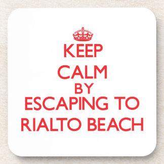 Keep calm by escaping to Rialto Beach Washington Beverage Coasters